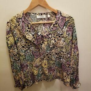Vintage le chateau button down blouse
